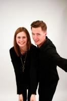 Jenny Goldkuhl & Peter Sundberg, programledare för Vaken med P3 & P4. Foto: Reine Magnusson