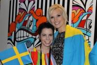 Carolina Norén och Sanna Nielsen. Foto: Ronnie Ritterland/Sveriges Radio