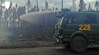 Skogsbranden i Västmanland. Foto: Arash Mokhtari/Sveriges Radio