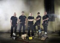 Frv Amanda, Mats, Linnea, Frank och Jonny. - Foto: Magnus Selander/Kanal 5.