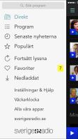 Väckarklockan hittar man i menyn på Sveriges Radio Play, ställ bara in kanal och tid