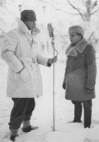 Sven Jerring på reportageresa i Finland 1939.