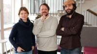 Reportrarna Johanna Sjövall, Johan-Mathias Sommarström och Firas Jonblat. Foto: Nils Lindström/Sveriges Radio