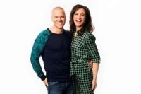 Petra Mede och Andreas Lundstedt. Foto: Mattias Ahlm/Sveriges Radio.