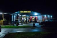 Lokalen för kareoketävlingarna. Foto: Linus Morales/SVT