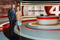 Nyheterna. Anders Kraft och Anna Lindmarker. Copyright  Foto: Victor J Fremling/TV4