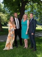 Konferencierer: Annika Lantz och Joar Bendjelloul. Programledare: Camilla Kvartoft och Anders Holmberg. Foto: Arne Hyckenberg/SVT