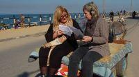 Cecilia Uddén och Agneta Ramberg i Gaza Foto: Sveriges Radio