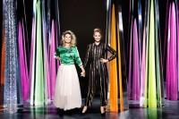 Christine Meltzer och Carina Berg är programledare för Kristallengalan den 4 september i Kanal 5. Foto: Kanal 5