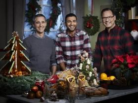 Sebastien, Roy och Magnus i Dessertmästarnas jul.