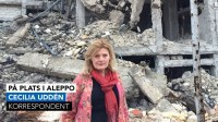 Cecilia Uddén i Aleppo i Syrien tidigare i veckan. Foto: Sveriges Radio