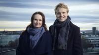 Ida Nysæter Rasch og Erik Solbakken skal lede Idrettsgallaen fra Hamar OL-amfi 7. januar 2017.  Foto: Julia Marie Naglestad / NRK