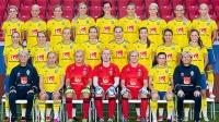 Damlandslaget i fotboll. Foto: Svenska Fotbollförbundet
