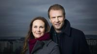 Ida Nysæter Rasch og Atle Bjurstrøm er programledere for VM-kveld i Lahti. FOTO: JULIA MARIE NAGLESTAD / NRK