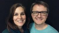 Cecilie och Christer Nerfont. Foto: Tomas Hedman/Sveriges Radio.