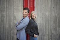 Carolina Klüft och Micke Leijnegard, Foto: Stina Stjernkvist /SVT