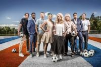 Björn Nordling, David Fjäll, Markus Johannesson Lisa Ek, Jane Björck, Frida Östberg, Daniel Nannskog och Chris Härenstam. Foto: Janne Danielsson /SVT