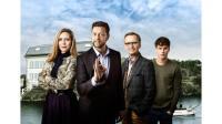 Eva Röse, Johan Petersson, Johan Ulveson och Adam Pålsson i Helt perfekt. Foto: Magnus Selander/Kanal 5