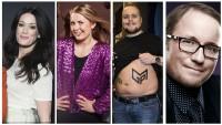 Panelet består av (f.v): Ingeborg Heldal, Silje Nordnes, Stian «Staysman» Thorbjørnsen og Per Sundnes.  FOTO: NRK