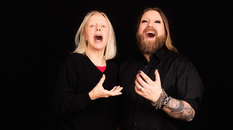 Rickard Söderberg, programledare för Operahuset i P2, och Anne Sofie von Otter. Foto: Mattias Ahlm/Sveriges Radio Foto: Mattias Ahlm