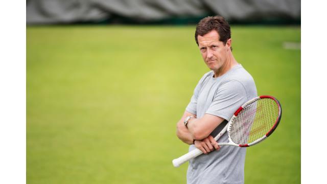 Jonas Björkman på Wimbledon 2015