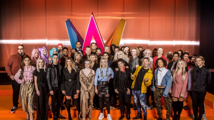 Artisterna som tävlar i Melodifestivalen 2019. Foto: Janne Danielsson/SVT