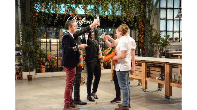 Dessertmästarnas sjunde säsong avgjordes på onsdagskvällen. Det stod mellan Niklas Nordin och Hampus Fors. Göteborgaren Hampus Fors utsågs till vinnare. Foto: Kanal 5 2  Upphovsrätt: Foto: Kanal 5