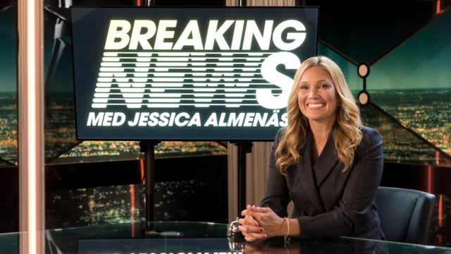 Breaking News med Jessica Almenäs  Upphovsrätt: Kanal 5