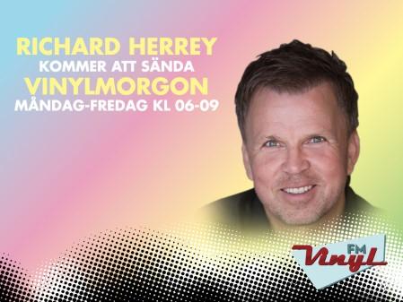"""Richard Herrey återvänder till Vinyl FM och kommer göra lyssnarna sällskap i morgonprogrammet """"Vinylmorgon""""."""