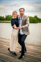 Elisa Lindström och Rasmus Persson. Foto: Claes Pettersson