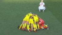 Svensk segerhög efter 2-1 mot England i bronsmatchen under VM 2019. Foto: SVT